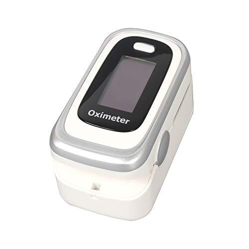 Explopur Haushaltsfinger-Pulsoximeter - Blutsauerstoff-SpO2-Monitor Produkt zur Sättigung des Herzschlags RR-Überwachungs- und Schlafüberwachungsprodukt - Weiß