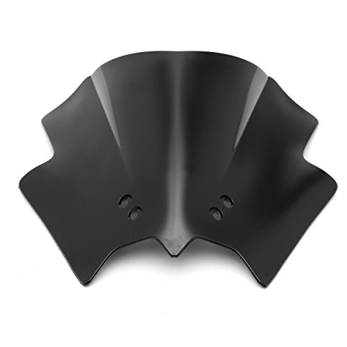 JenNiFer Protector contra Viento para Motocicleta Windscreedn para KTM 125 200 390 Duke - Negro