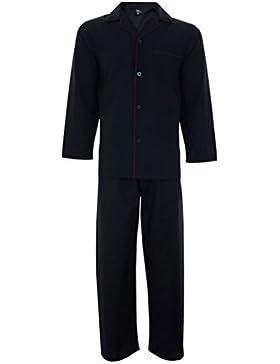 hombre sencillo Polialgodón Conjunto De Pijamas Tradicional Clásico Cortar