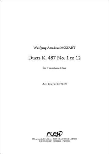 FLEX EDITIONS MOZART W. A. - DUET K 487 - TROMBONE DUET Klassische Noten Blechblasinstrumente und Percuss Posaune