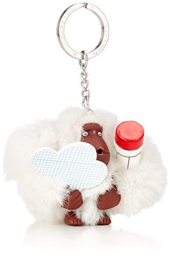 Kipling Damen Monkey Schlüsselanhänger, Scribble White, 13x13x11 cm -