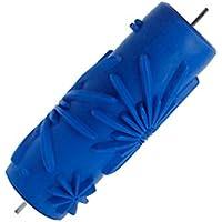 15 cm Rodillo de Pintura con Dibujo Flor de Color Azul
