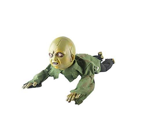 Nxr Halloween Crawl Baby Horror Dekorationen, Voice-aktivierten Glow Ghosts kriechen Baby Ghost Toys, Color 1
