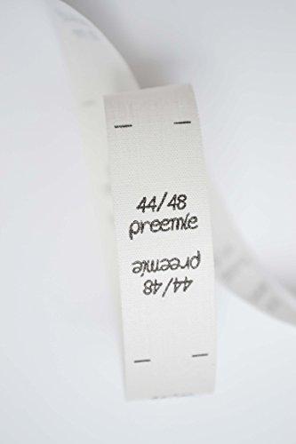 Étiquettes de taille 44 48, preemie, prema, prematuré, international, enfants, bébés, 25 pièces, double taille, pour les vêtements, pour la couture, étiquettes textiles, taille étiquettes, étiquettes de couture, coudre, 0,20 € / pcs., crème beige nature, écru