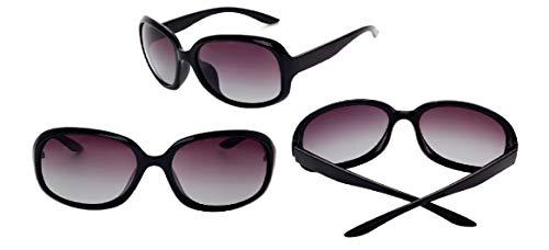 YUZHIYU Elegant Lady Sunglasses HD Lenses with Case Plastic Durable Frame UV Protection Eyewear for Driving Cycling C1