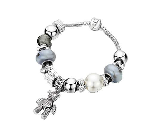 Moda pandora braccialetto gioielli mano tessuti ciondolo colore crystal stringa di mano donna diamond gioielli