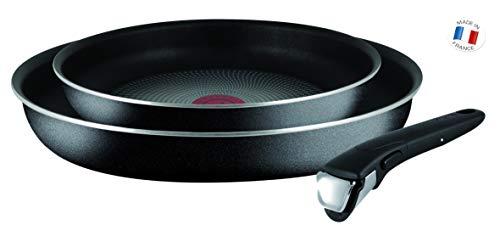 Tefal L2009002 Set de poêles - Ingenio 5 Essential Noir 3 Pièces - Tous feux sauf induction