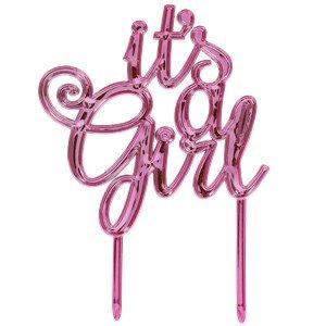 Décoration pour gâteau It's A Girl – c'est une fille – Baby shower naissance fille