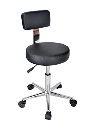 Adjustable Stool Chair Hug Flight® Salon Tattoo Equipment Lift Bar Backrest Massage Beauty Black