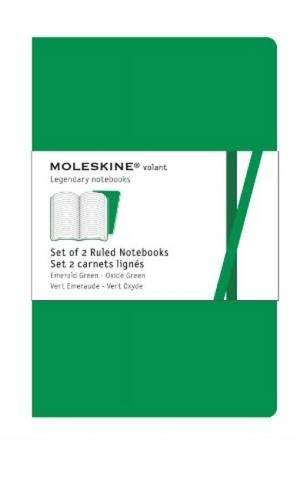 Moleskine Volant Notizhefte (liniert, X-Small, Weicher Einband) 2er-Set smaragdgrün/oxyd-grün (Moleskine 2er-set)