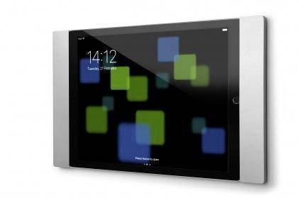 smart things s11 s sDock Fix Air Silber - Abschließbare Wandhalterung und Ladestation zur dauerhaften Installation für Apple iPad (2017), Pro 9,7