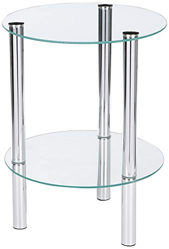Haku moebel, 9024, tavolino, trasparente, 35 x 35 x 47 cm
