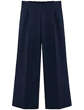 Saoye Fashion Pantalones Mujer Talla Grande De Vestir Verano Elegantes Chic Gasa Pantalon Ancho Cintura Alta Pantalones...