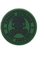 Patch Airsoft PVC Vert Zombie Outbreak Response Team