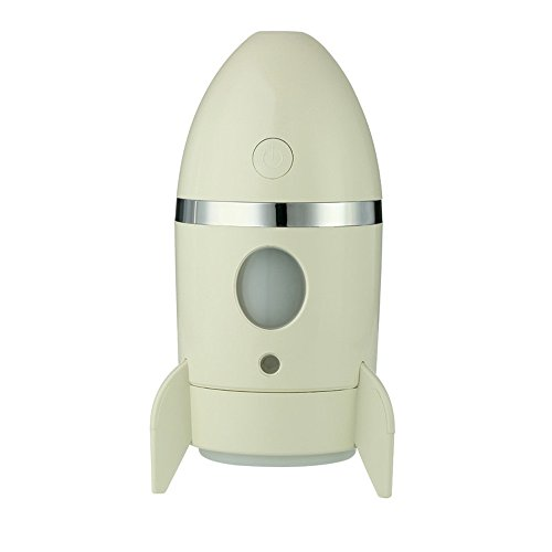FeiliandaJJ Ultraschall Luftbefeuchter,135ml Ultra-leises Design,Mini Rakete Design Humidifier,für Yoga Schlafzimmer Büro Weihnachten Geschenk (Gelb)