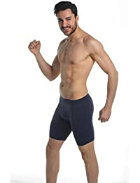 Men`s Active-wear Soft Cotton Extra Long Leg Boxers All Sizes(Ref:1150)(GIFT) (6XL, Navy)