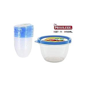 Privilege- Set 11 Semidesechables Redondo, 420 ml, Multicolor (49793)
