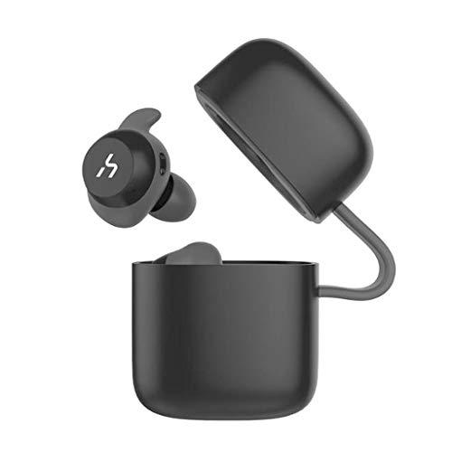 WLPT wasserdichte Ohrhörer, G1/G1Pro/G1W Bluetooth 5.0 TWS Kopfhörer IPX5 wasserdicht mit Ladetasche In-Ear Unsichtbare Ohrhörer 3D Stereo HiFi Sound,Black,G1W G1 Stereo
