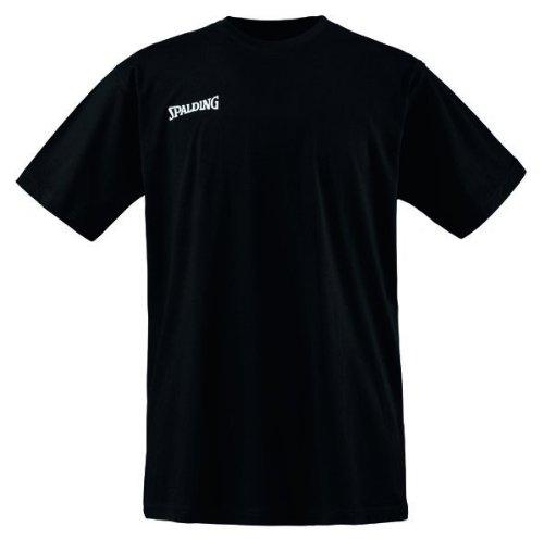 Spalding Promo Tee Camiseta Baloncesto, Hombre, Negro, XXXL