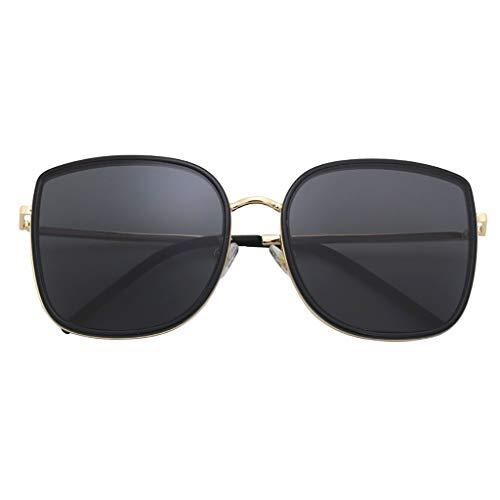 Der Geschmack von zu Hause Sonnenbrille rundes Gesicht Sonnenbrille V Sonnenbrille weibliche Box große Schachtel rundes Gesicht männlich (Color : A)