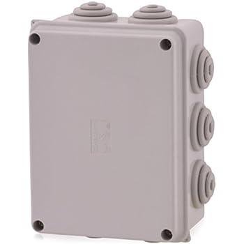 Kunststoffgehäuse Installationsgehäuse Leergehäuse mit Stufennippeln 150x110x70mm, Verteilerkasten, Abzweigdose, Schaltschrank JS7070