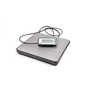 ABCON PROSHIP ECO1 Large Digital 200kg x 50g 440lb Heavy Duty Stainless Steel Platform Postal Postage Parcel Shipping Weighing Warehouse Scales with Extendable Display Cable