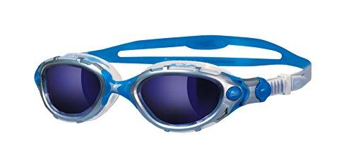 Zoggs Predator Flex Mirror Schwimmbrille, Silver/Blue, One Size