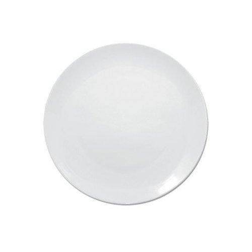White Coupe Plates Crockery Dinner Set - 24cm 9.5  (Box 6)