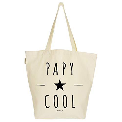 ArteCita ECO Fashion Grand Sac Cabas Fourre-tout Imprimé Toile Bio 37x45x20cm Tote Bag XL - Papy Cool