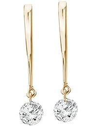 14K Yellow Gold .30 ct Dashing Diamonds Earrings
