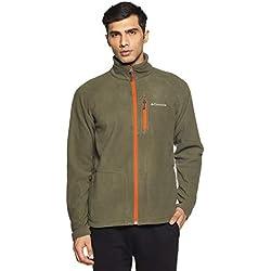 Columbia Fast Trek II Full Zip Fleece Chaqueta Forro Polar, Hombre, Marrón (Peatmoss/Backcountry Orange), S (42 ES)