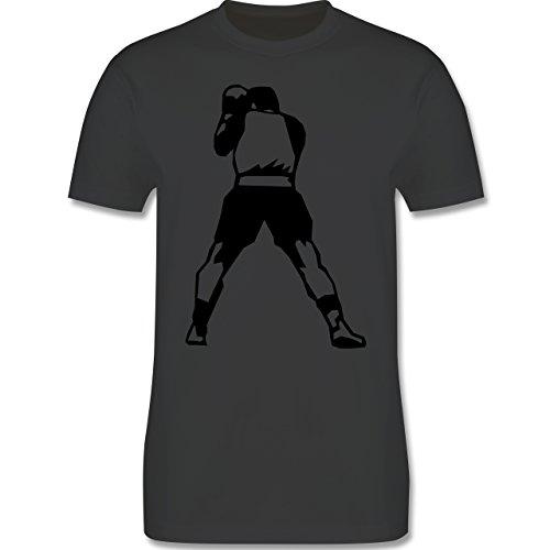 Kampfsport - Boxen - Herren Premium T-Shirt Dunkelgrau