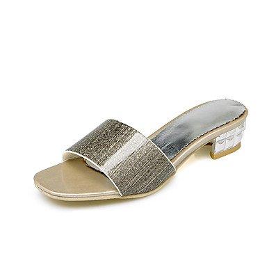 LvYuan Damen-Sandalen-Kleid-Kunstleder-Niedriger Absatz-Andere-Rosa Silber Gold Gold
