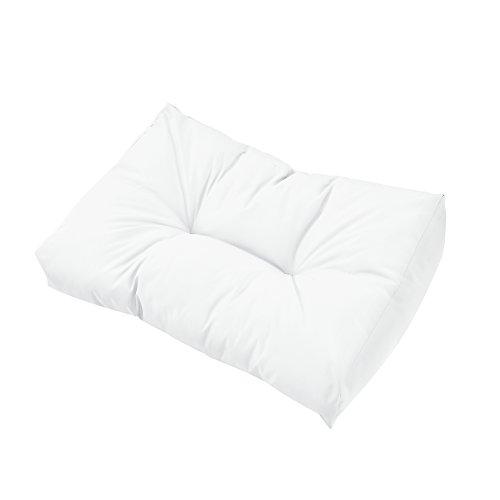 [en.casa] 1x Rückenkissen für Euro-Paletten-Sofa [weiß] Palettenkissen Auflage In/Outdoor Polster Möbel - 2