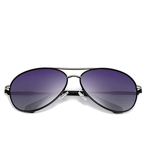 LKVNHP Polarized Herren Sonnenbrille Schwarz/Braun Metallrahmen Uv400 Male Driving Glasses Mit BoxSchwarz