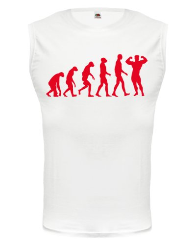 buXsbaum® Tank Top The Evolution of bodybuilding White-Red