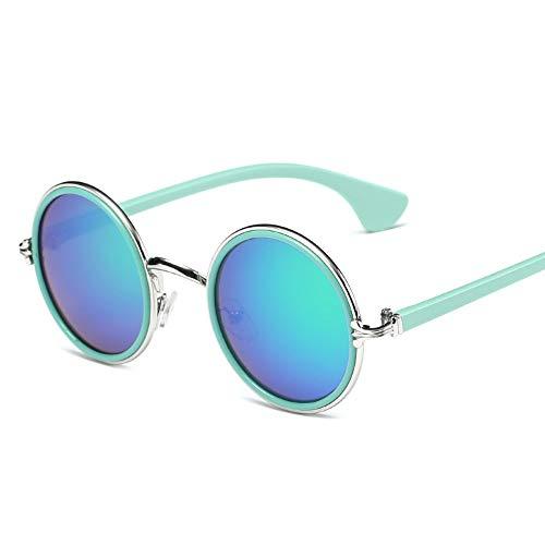 Sonnenbrille Runde Cute Fashion Designer Sonnenbrille Kind Uv-Baby Vintage Brille Mädchen Coole Brillen Jungen Kids Uv 400 Blau