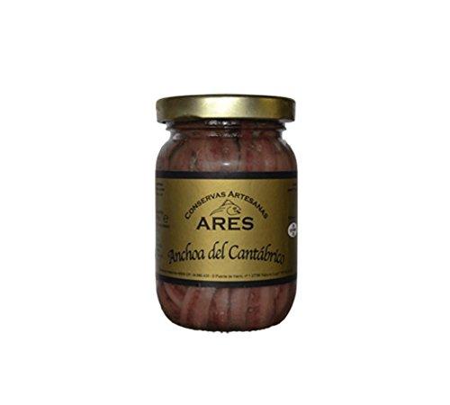 Anchoas del Cántabrico sobadas a mano en aceite de oliva virgen extra 120 Gr.