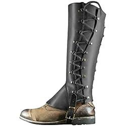 Mxssi Cubrebotas para Adultos, Vintage Medioevo Cubierta de los Zapatos Polainas Botas Sirven Pirata de Shoes Cover para Carnaval Halloween Partito