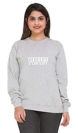 69GAL Women's Round Neck Fleece Sweatshirt (143w1_x-p48_Grey_XXXXX-Large)