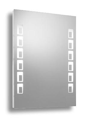 myBATH MYBLS10 Kreta Leuchtspiegel Badspiegel Wandspiegel Lichtspiegel mit LED Beleuchtung e-light, 80x60 cm