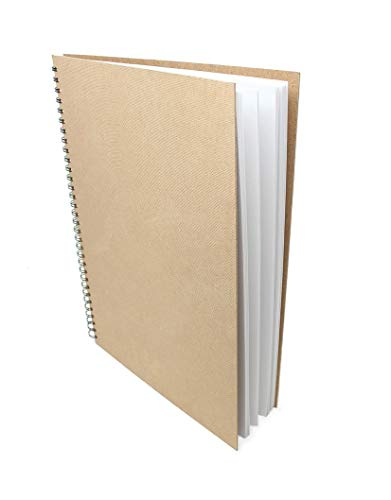 Artway Enviro - Skizzenbuch mit Spiralbindung - 100{4034b5a437b0a5db3d7a94feea6736ffbac0d164f604d6cb295b040242da447c} Recycling-Zeichenpapier - Hardcover - 35 Blatt mit 170 g/m² - A3 Hochformat