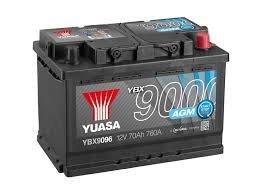 Yuasa YBX9096 Batteria Avviamento Agm