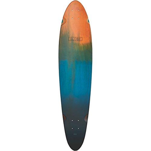 Globe Skateboards Longboard Pinner Classic Skateboard Deck, orange verblasst Dye (Verblasst Skateboard)