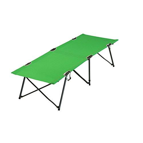 Fridani Feldbett TBG XL Campingbett Grün Reisebett ohne Querstreben Bequeme Gartenliege Gästebett