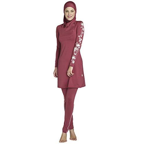 nadamuSun Costume da Bagno Musulmano Donne Ragazze Costume da Bagno Muslim Swimwear Ragazze Signore Modesto Copertura Completa Beachwear Burqini Burkini