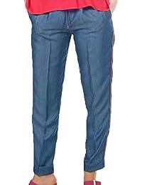 4d6563edb5a26 Kocca Pantaloni Jeans Donna Leggeri Minger Blu Denim Primavera Estate 2019