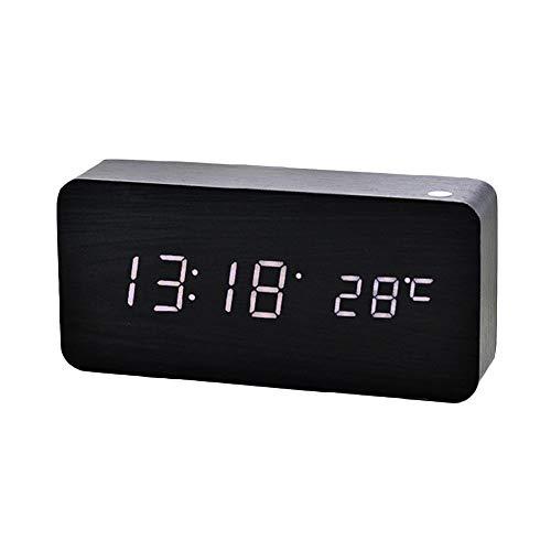HEIRAO Nuevo Reloj Digital de Madera LED Creativo