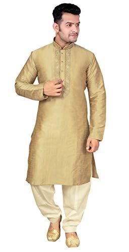 Desi Sarees Herren Kurta Pyjama Shalwar Kameez Sherwani 1852 (XL (Brust -  42 Zoll 477e9c85783