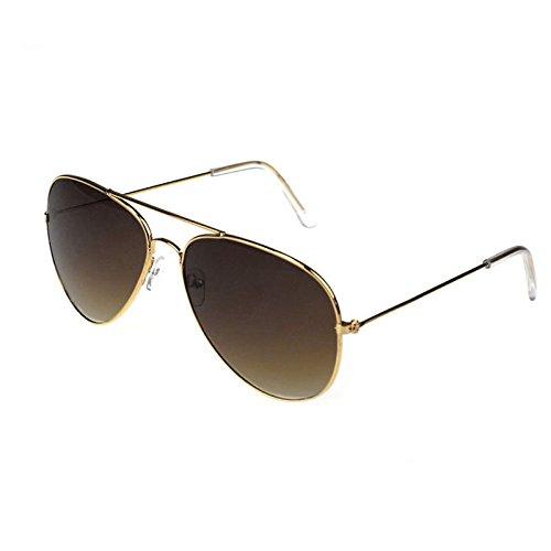 Ginli occhiali,occhiali da sole occhiali da vista aviator unisex uomo donna classic metal designer occhiali da sole + custodia pilota occhiali da sole accovacciati